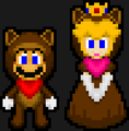 TANOOKI MARIO AND TANOOKI PEACH