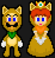 KITSUNE LUIGI AND KITSUNE DAISY