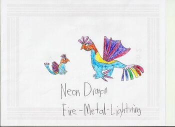 Neon dragon
