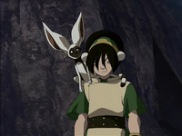 Annoyed Toph and Momo