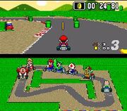 Super Mario Kart screen