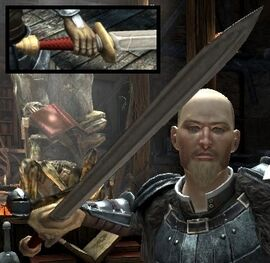 DA2 Fereldan Longsword on Hawke w Fereldan Field Armor