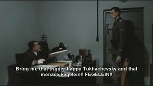 Hitler becomes angry