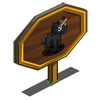Black Mini Unicorn Foal Mastery Sign-icon