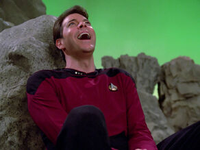 Riker laughs at Q&#39;s plan