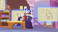 Rarity operating the sewing machine S1E14