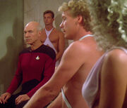 Picard negotiates for Wesley's life