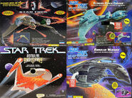 Playmates Klingon and Romulan ships