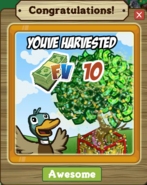 Money Tree Harvested Notification