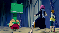Natsu and Coco confronted by Guttman