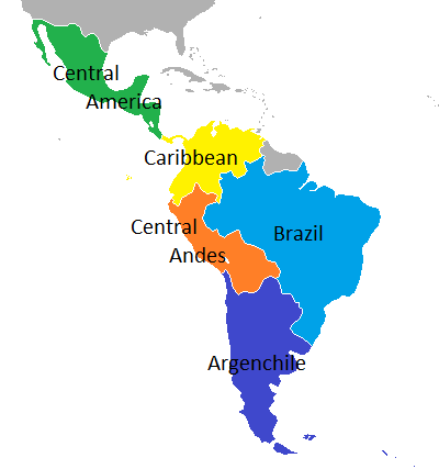 Latin America - districts map