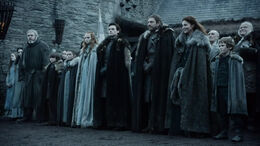 Familia Stark ante el rey HBO