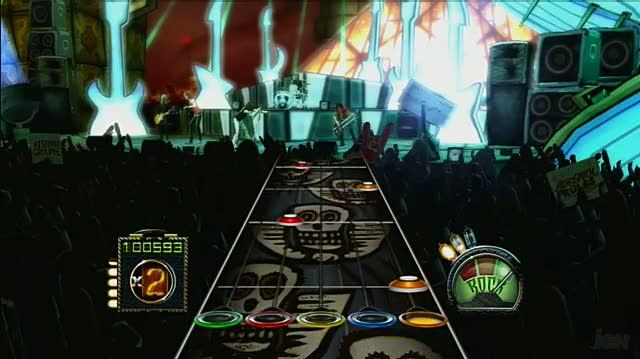 Guitar Hero Aerosmith Xbox 360 Gameplay - Living on the Edge
