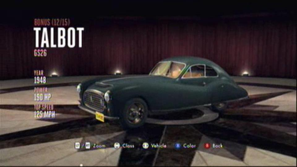 L.A. Noire Hidden Vehicles Bonus - Talbot GS26