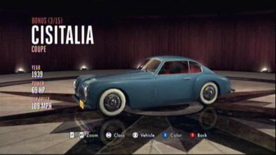 L.A. Noire Hidden Vehicles Bonus - Cisitalia Coupe