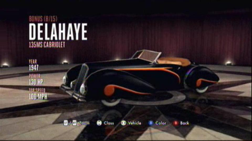 L.A. Noire Hidden Vehicles Bonus - Delahaye 135MS Cabriolet