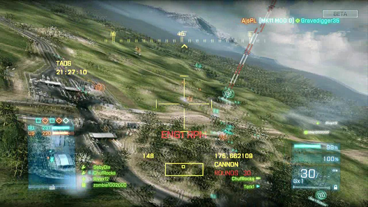Battlefield 3 Beta - Caspian Border Helicopter Gameplay