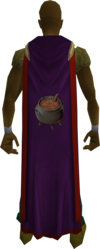Cooking cape (t) equipped