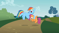 Rainbow Dash noogie S2E8