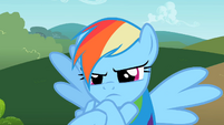 Rainbow Dash acting childish S2E8