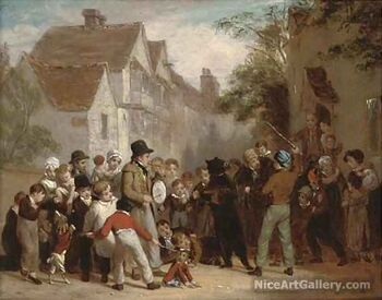 The dancing bear by William Frederick Witherington