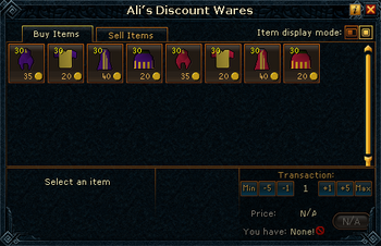 Ali's Discount Wares (Menaphite clothing) stock