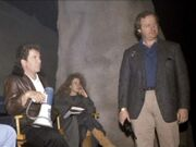 Bran Ferren with William Shatner on the Sha-Ka-Ree set