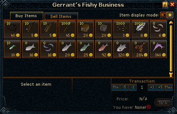 Gerrant's Fishy Business stock