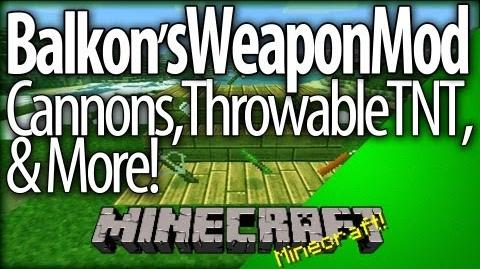 Minecraft Balkon's Weapon Mod v8