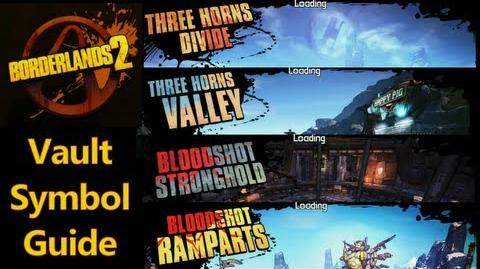 Borderlands 2 - Vault Symbols - Three Horns Divide & Valley, Bloodshot Stronghold & Ramparts