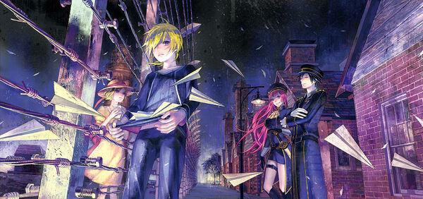 Rin & Len Kagamine - Shuujin & Kami Hikouki  600px-Prisoner_Paperplane_novel