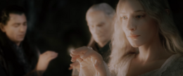Galadriel recieves the Ring
