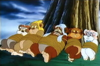 Tied up Ewoks