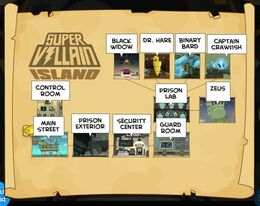 Super Villain Island Map