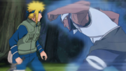A attacks Minato