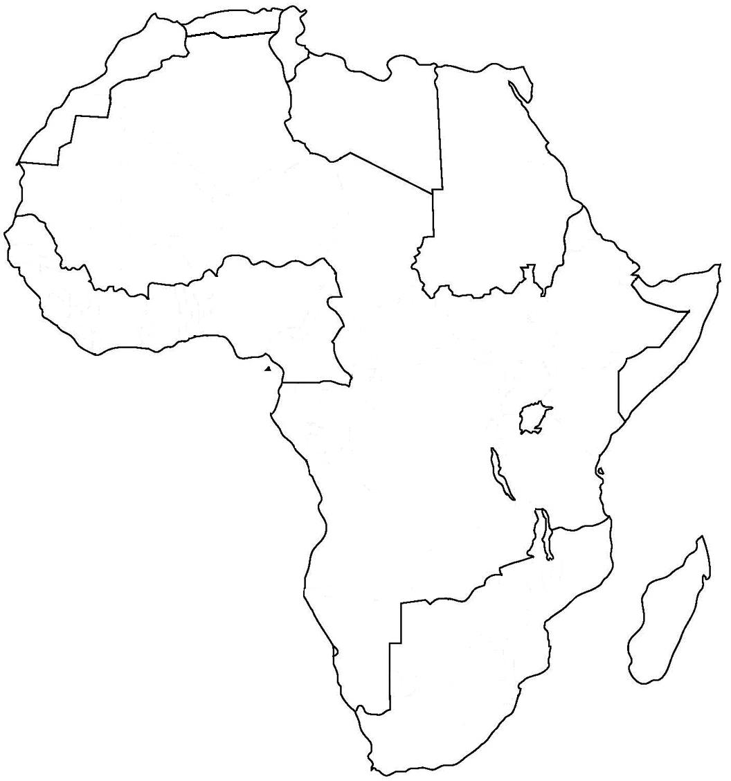 africa coloring page - map of africa coloring sheet coloring pages