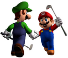 Mario and luigi in mario golf toadstool tour
