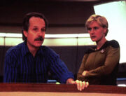 Winrich Kolbe and Denise Crosby