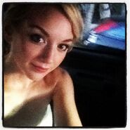 Emily Kinney in the car