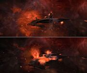 Son'a battle cruiser CGI model damaged in movie