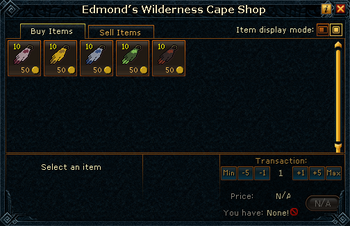 Edmond&#39;s Wilderness Cape Shop stock