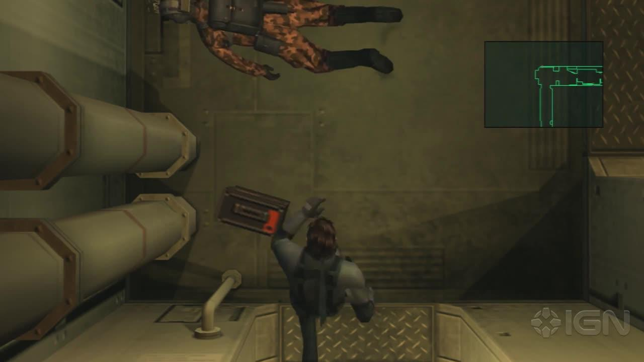 Metal Gear Solid 2 HD - Corridor Gunfight - Gameplay