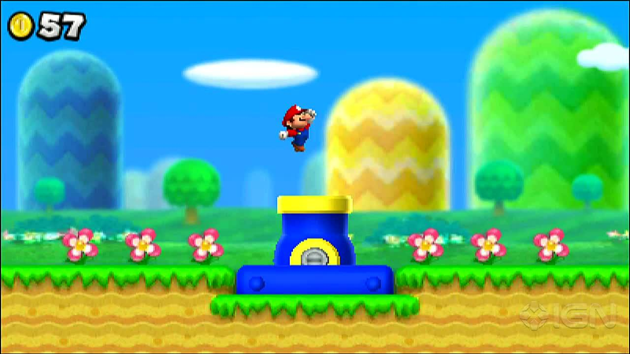 New Super Mario Bros. 2 - Warp Cannon