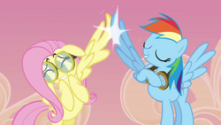 Rainbow and Fluttershy 'high wing' S2E22