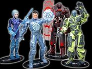 TRON2 0MovieActionFigureAssortmentSetof4