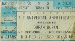 007 gibson Universal Amphitheatre, Los Angeles, CA, USA wikipedia duran duran ticket stub black sabbath