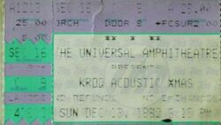 KROQ Almost Acoustic Christmas, Universal Amphitheatre, Los Angeles. CA, USA. wikipedia duran duran ticket stub