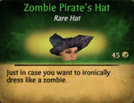 Pirate zombie hat female
