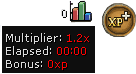 The free players' multiplier is 1.2.