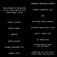 Star Wars - Characters who died
